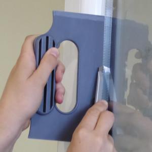 Schneideschablone für Fensterfolien